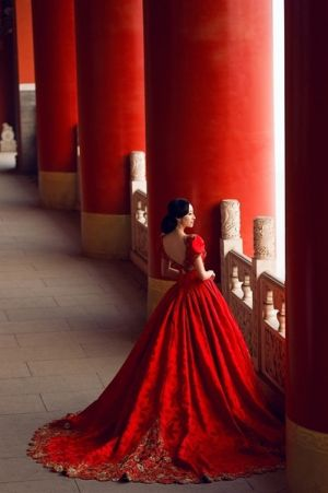 Red Asian lusciousness - ball gown.jpg